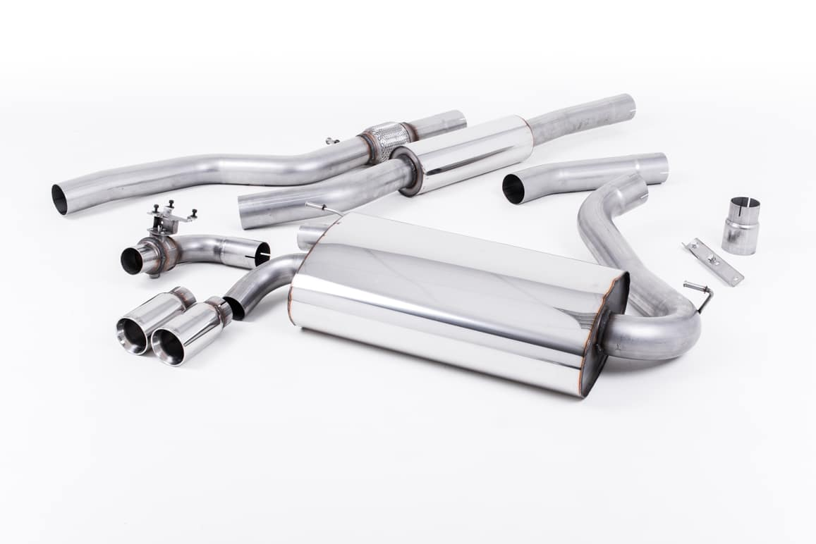 Milltek BMW 4 Series F32 428i Coupe (Manual, without tow bar and N20 Engine  Only) (14-17) Cat-Back Exhaust- Resonated- Polished Tips - SSXBM1000
