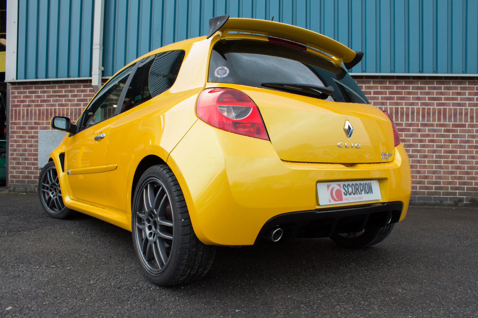 Scorpion Renault Clio Mk3 197 06 09 Non Resonated Cat Back Exhaust Polished Twin Inward Rolled Tips Srns025