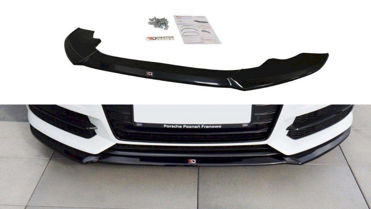 Maxton Design Front Splitter Audi A6 C7 S Line S6 C7 Facelift 2014 2018 Au A6 C7f Sline Fd1